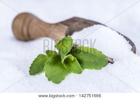 Stevia (granular; Selective Focus)