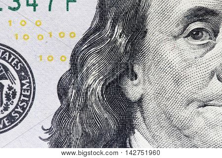 new 100, the new hundred-dollar bill close-up, the protection system