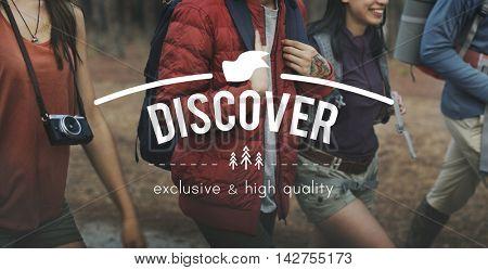 Discover Adventure Traveling Exploration Journey Concept