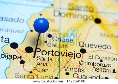 Santa Ana pinned on a map of Ecuador