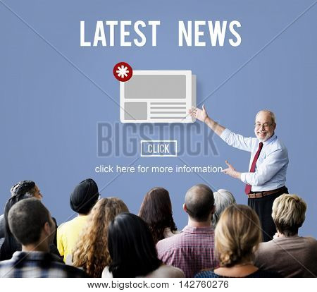 Latest News Newsletter Announcement Daily Concept