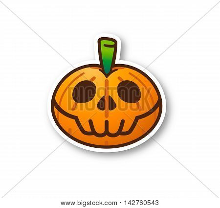 Halloween Pumpkin - Cute Skeleton with shadow