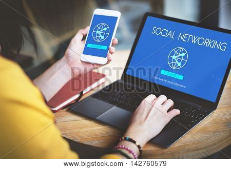 Social Networking Technology Internet Connect Concept