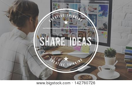 Share Ideas Sharing Global Communication Connection Concept