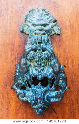 Antique Doorknocker In The Provence, France