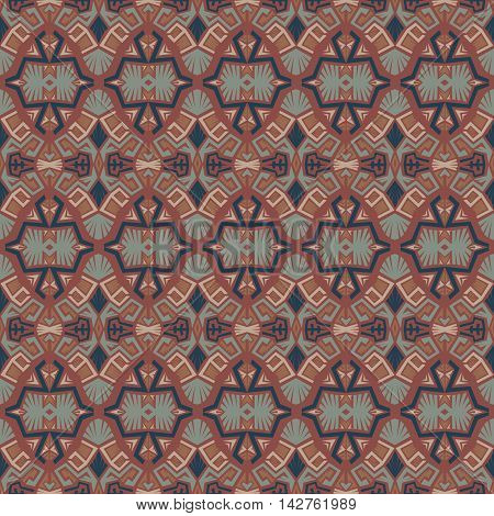 Seamless abstract vector texture ethnic tribal pattern background.Boho chic style pattern.
