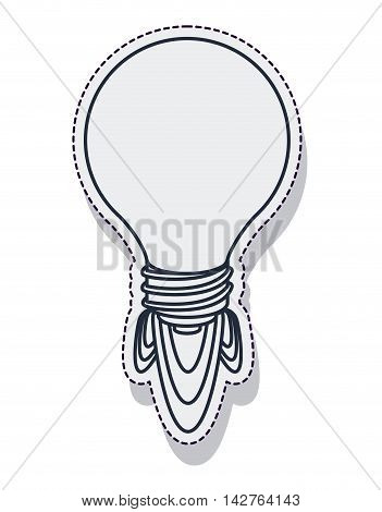 rocket startup bulb launcher isolated icon vector illustration design