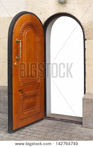 Door isolated object. Conceptual design.