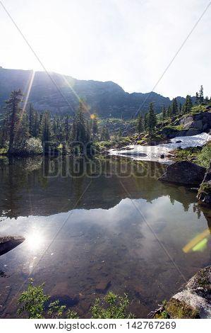 West Sayan, Ergaki, Azure Lake In Summer