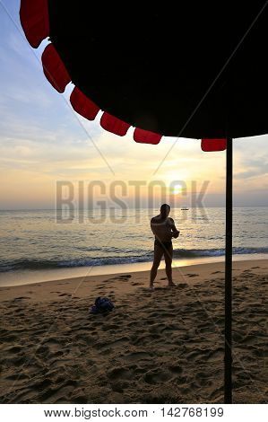 Pattaya, Thailand - December 21: Seaside Holiday On The Beach December 21, 2014 In Pattaya, Thailand