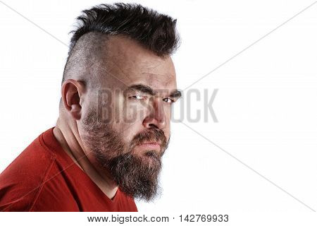 Portrait Of A Man With A Mohawk