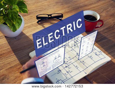 Electronic Circuit Electricity Voltage Concept