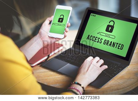 Access Granted Anytime Available Possible Unlock Concept