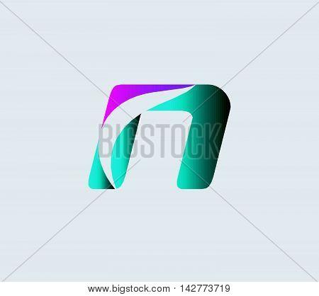 Letter N logo. Letter N logo icon design template elements
