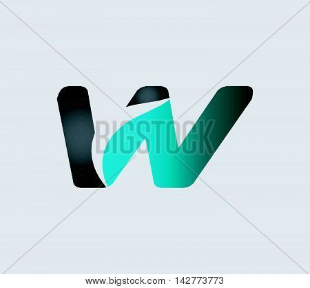 Letter W logo. Letter w logo icon design template elements