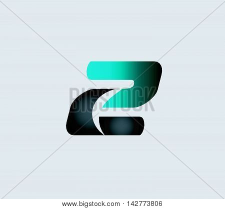 Logo number 2 company icon design template