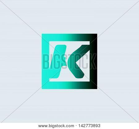 Letter K. Letter K logo vector alphabet shape. ABC concept type as logo