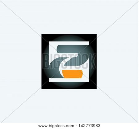 Abstract icons for number 2 logo design vector