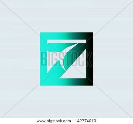 Abstract Number 7 logo Symbol with arrow