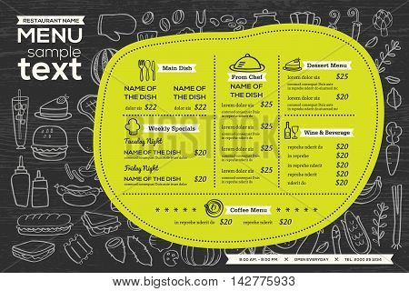 restaurant cafe menu template design food flyer placemat background