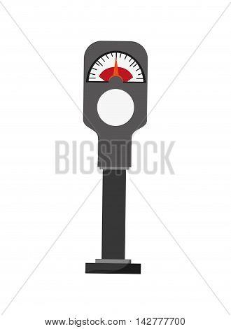flat design parking meter icon vector illustration