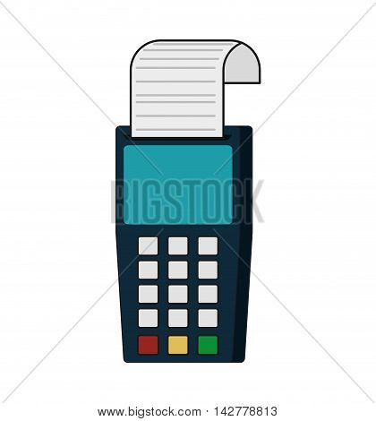 dataphone money financial payment icon. Isolated and flat illustration