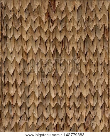 Brown wicker rattan texture torizontal background closeup. This texture may be used for any ideas.
