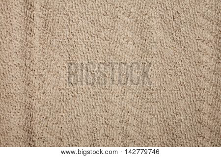 Canvas fabric texture closeup. Texture sack sacking country background. Yellow fabric texture background.
