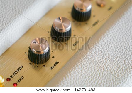 Volume control knob of  hi-fi amplifier