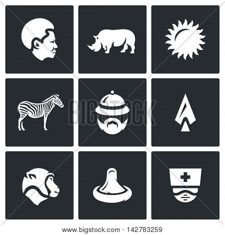 Black, Rhinoceros, Sun, Zebra, Tourist, Spear, Monkey, Condom, Virology