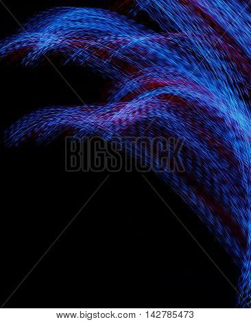 Colorful light motion on the dark background