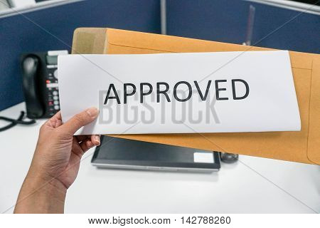 the approved letter from the brown envelope