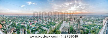 overcast urban landscape of Donetsk East Europe Ukraine