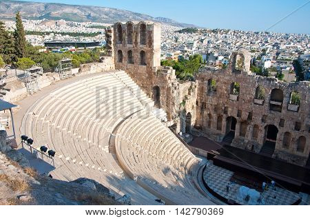 The Odeon of Herodes Atticus in Athens. Greece.