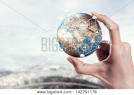 Media worldwide technology concept . Mixed media