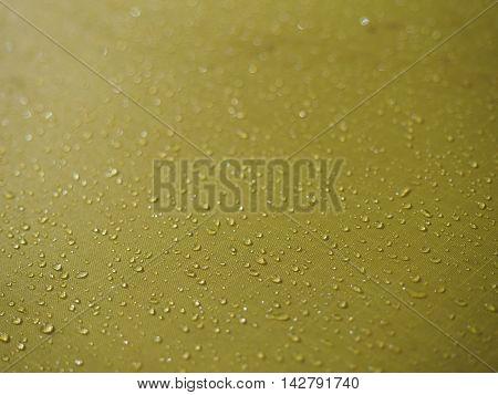 Yellow Cloth, tent, drop of water waterproofing