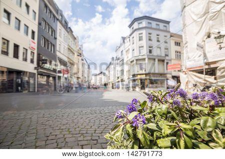 Main Street In Bonn, Former Capital City Of West Germany