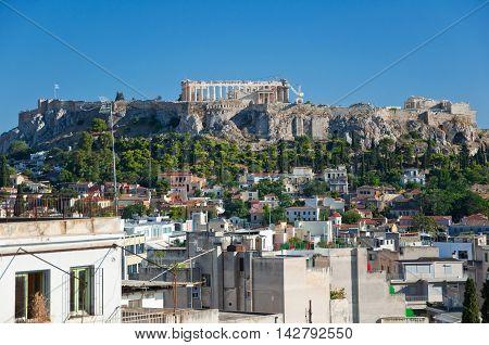 The Acropolis of Athens. AthensGreece.In the citi centr.
