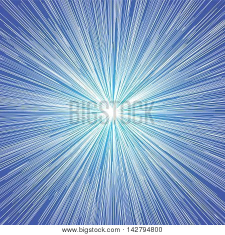 Sun Burst Blast Blue Background
