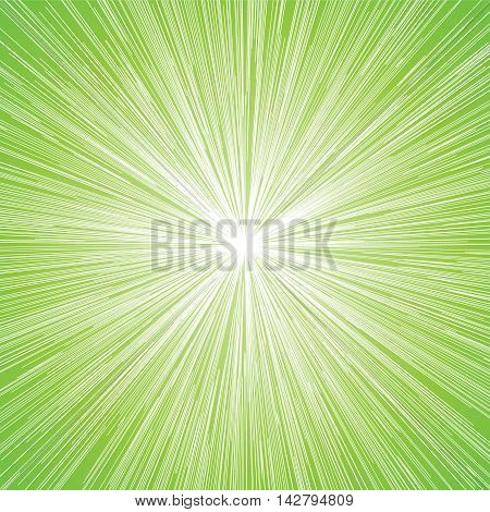 Sun Burst Blast Green Background