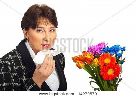 Mature Woman  Allergy