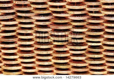 Padrão de parede feito de moedas de ouro