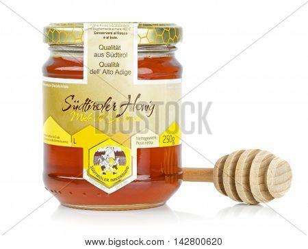 NIEDERSACHSEN, GERMANY AUGUST 16, 2016: A glass jar of Austrian