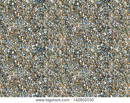 Natural sand and shells seamless photo background can be tiled endlessly