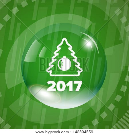 New year banner on a green background