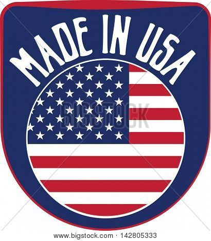 Made in USA United States of America badge sign. Vector illustration