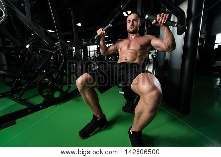 Chest Exercise In A Gym