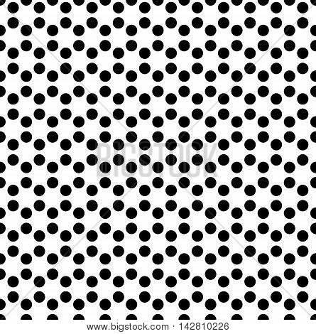Dotted Background In Hexagonal Arangement