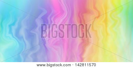 Colorful rainbow background banner - wide rainbow colored striped marble effect graduated banner