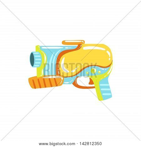 Colorful Fantastic Water Pistol Colorful Flat Bright Color Vector Illustration On White Background